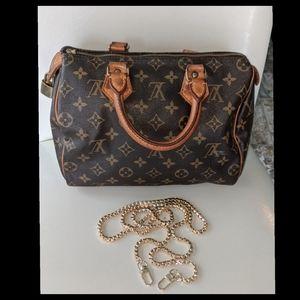 Louis Vuitton Speedy 25 w crossbody strap